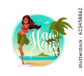 vector illustration of paradise ... | Shutterstock .eps vector #623458862