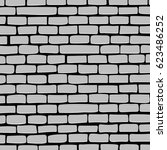 brick wall of white brick.... | Shutterstock .eps vector #623486252