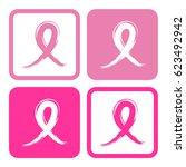 breast cancer awareness ribbon... | Shutterstock .eps vector #623492942