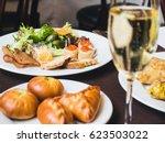 breakfast or brunch with... | Shutterstock . vector #623503022