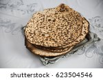 Matzo For Passover With Seder...