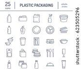plastic packaging  disposable... | Shutterstock .eps vector #623505296