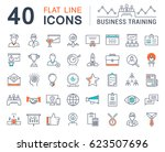 set line icons in flat design... | Shutterstock . vector #623507696