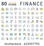 set line icons in flat design... | Shutterstock . vector #623507792