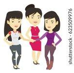 asian business women putting... | Shutterstock .eps vector #623509976