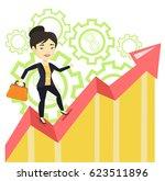 asian successful business woman ... | Shutterstock .eps vector #623511896