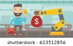 young caucasian business man... | Shutterstock .eps vector #623512856