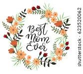 best mom ever calligraphy... | Shutterstock .eps vector #623520062