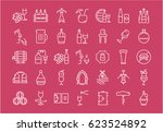 set line icons in flat design... | Shutterstock . vector #623524892