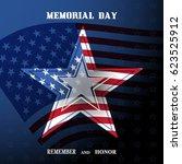 vector poster of memorial day... | Shutterstock .eps vector #623525912