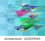 triangles design background | Shutterstock .eps vector #623529965