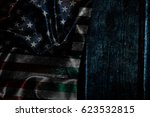 usa flag on a wood surface | Shutterstock . vector #623532815