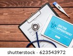 concept of appointment to... | Shutterstock . vector #623543972