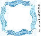 beautiful sea frame. vector... | Shutterstock .eps vector #623555306
