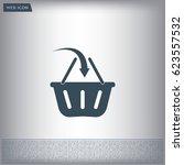 vector shopping basket icon | Shutterstock .eps vector #623557532