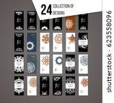 set of vector design templates. ...   Shutterstock .eps vector #623558096