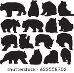 rare animals unique to china... | Shutterstock .eps vector #623558702