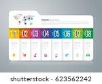folder infographics design...   Shutterstock .eps vector #623562242