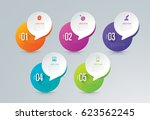 infographics design vector and... | Shutterstock .eps vector #623562245