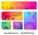 set of indian country ornament... | Shutterstock .eps vector #623563616