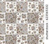 seamless raster geometrical... | Shutterstock . vector #623565332