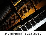 piano close up. grand piano... | Shutterstock . vector #623565962