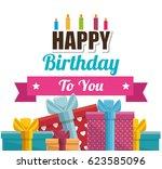 gift box present birthday card | Shutterstock .eps vector #623585096