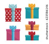 gift box present birthday card   Shutterstock .eps vector #623586146