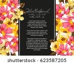 vintage delicate invitation... | Shutterstock .eps vector #623587205