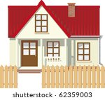 small mansion rural house with... | Shutterstock .eps vector #62359003