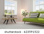 white room with sofa and green... | Shutterstock . vector #623591522