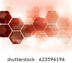 abstract technology background... | Shutterstock .eps vector #623596196