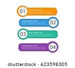 modern paper text box template  ... | Shutterstock .eps vector #623598305