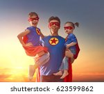 happy loving family. dad and... | Shutterstock . vector #623599862