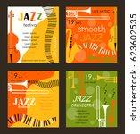 vector poster for the jazz... | Shutterstock .eps vector #623602535