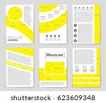abstract vector layout... | Shutterstock .eps vector #623609348