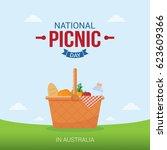 national picnic day vector...   Shutterstock .eps vector #623609366