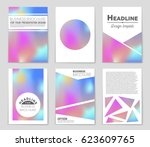 abstract vector layout... | Shutterstock .eps vector #623609765