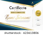 certificate template luxury and ... | Shutterstock .eps vector #623613806