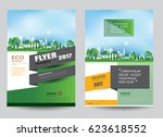 eco brochure design vector... | Shutterstock .eps vector #623618552