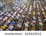Muslim Praying Together In A...