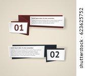 vector infographic origami... | Shutterstock .eps vector #623625752