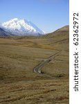 tour bus on the road in denali... | Shutterstock . vector #62362972