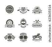 race  motorcycle  motorbike... | Shutterstock .eps vector #623635316