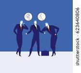 great communication skills... | Shutterstock .eps vector #623640806