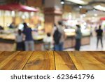 blurred image wood table and... | Shutterstock . vector #623641796
