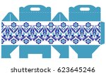 template gift paper box with a... | Shutterstock .eps vector #623645246