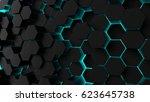 abstract technological... | Shutterstock . vector #623645738