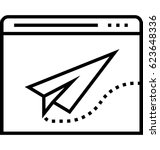 landing page vector icon