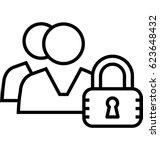 parental control vector icon | Shutterstock .eps vector #623648432